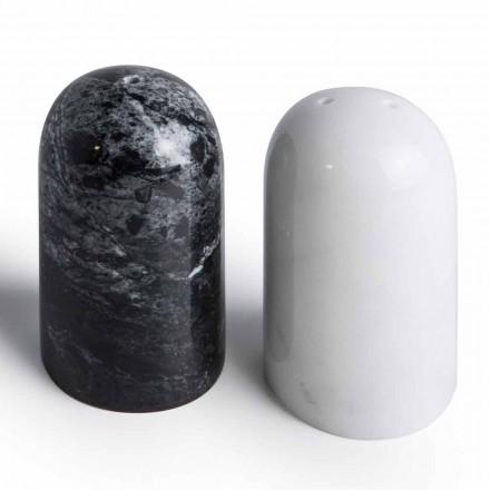 Salz- und Pfefferbehälter aus Carrara- und Marquinia-Marmor Made in Italy - Xino