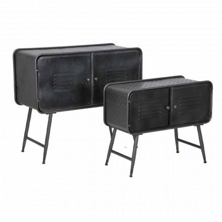 Paar Vintage Style Industrial Sideboards für Wohnzimmer in Eisen - Cuna