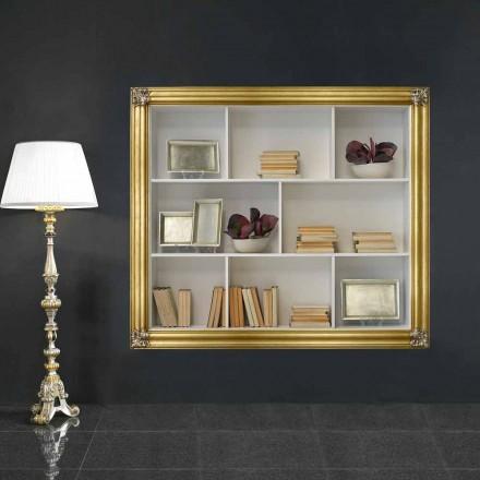 Wand-Bücherregal aus Gelotonholz hergestellt in Italien Giulio