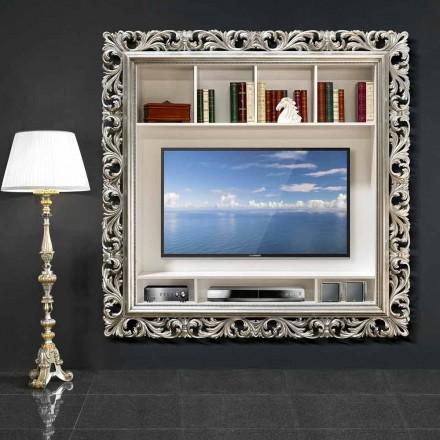 TV-Wandrahmen handgefertigt aus Holz, hergestellt zu 100% in Italien, Mario
