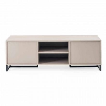 Modernes, niedriges Sideboard aus MDF und Metall Made in Italy - Rohan