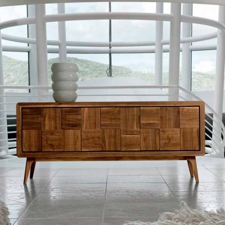3-türige Anrichte aus massives Nussholz in modernem Design Nensi