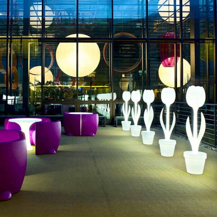 Leuchtende Möbeldekoration für Innenarchitektur, 2 Stück - Tulpe von Myyour