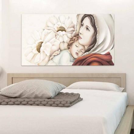 Gemälde Mutter und Kind mit Blattgold Dekor Scott