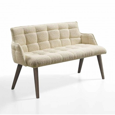 Luxussofa mit Sitzbezug aus Stoff Made in Italy - Clera