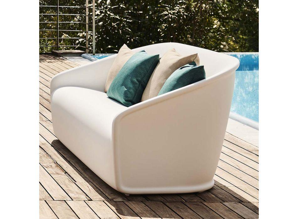 2-Sitzer-Sofa für den Außenbereich aus farbigem Polyethylen Made in Italy - Juli