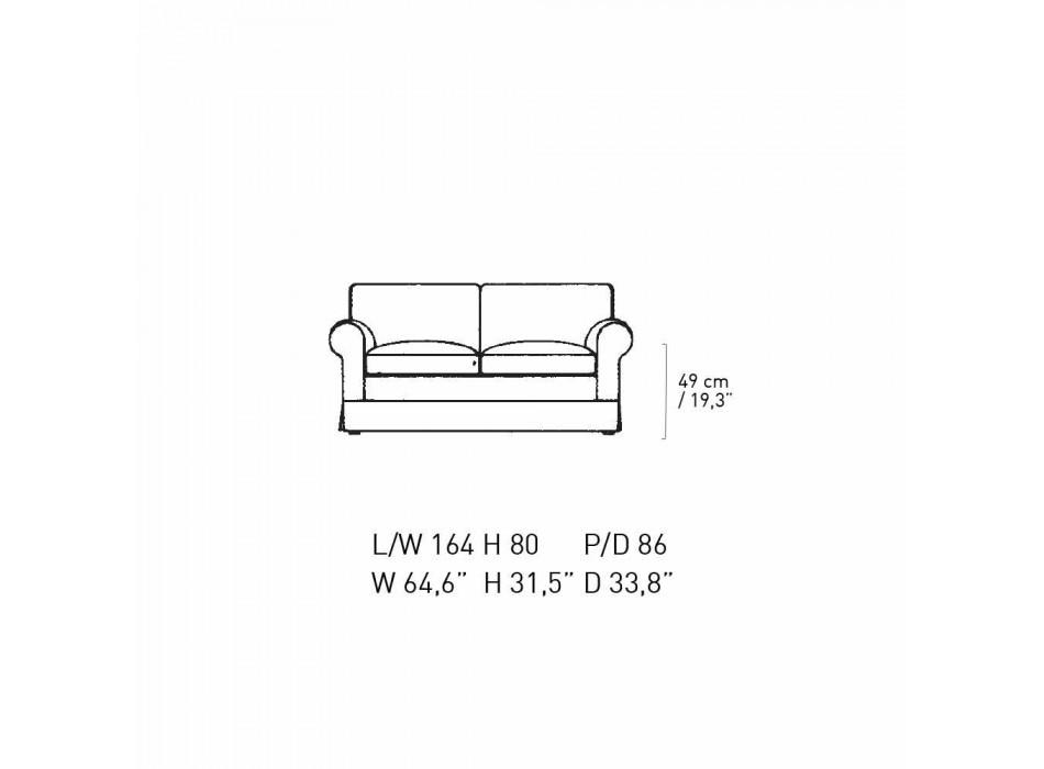 2-Sitzer-Sofa gepolstert und bezogen mit Stoff Made in Italy - Andromeda