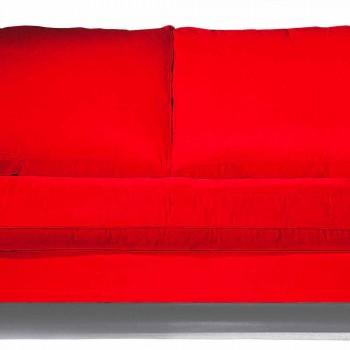 2-Sitzer-Sofa aus Baumwolle mit Seitenwürfeln aus Mdf Made in Italy - Damaskus