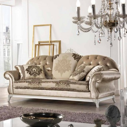 Couch aus Stoff 2-Sitzer im Barock Stil Liberty Made in Italy