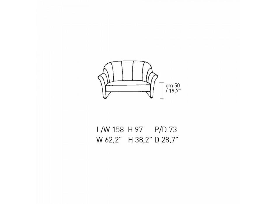 2-Sitzer-Sofa aus schwarzem Samt mit Kontrastnähten Made in Italy - Caster