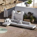 3-Sitzer-Outdoor-Sofa aus Aluminium mit Hocker und Chaiselongue - Filomena