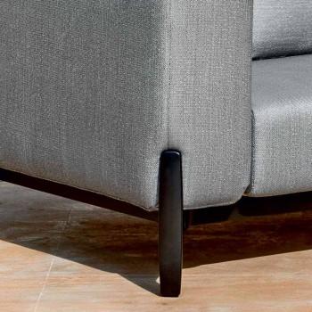 3-Sitzer-Outdoor-Sofa in Design Aluminium und Stoff in 3 Ausführungen - Filomena