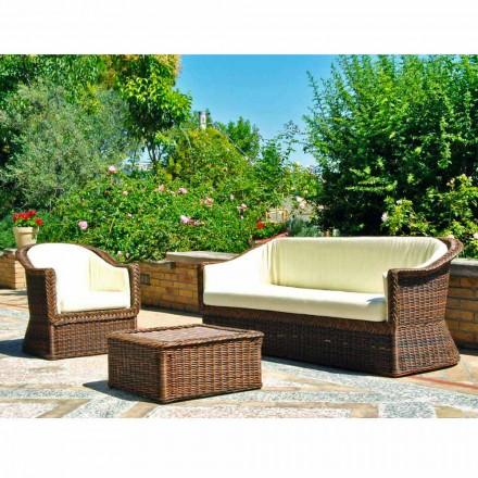 Outdoor Polyrattan  Loungesofa 3 Sitzer handgeflochten
