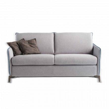 Dreisitzer-Sofa Design L. 185cm Stoff/Kunstleder made in Italy Erica