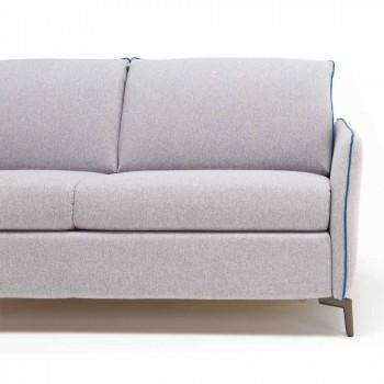 3-Sitzer Maxi L205 cm modernes Design Kunstleder / Stoff Erica