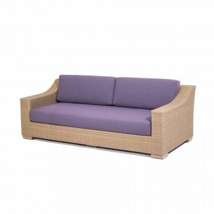Gartencouch 3-Sitzer aus Polyethylen und Tempotest Joe