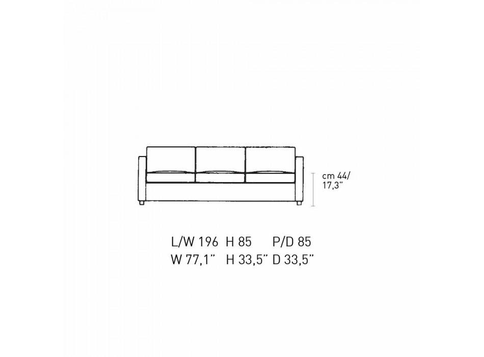 3-Sitzer-Sofa mit hochwertigem Made in Italy Leder bezogen - Centauro
