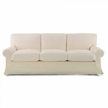 3-Sitzer-Sofa mit hochwertigem Made in Italy-Stoff bezogen - Andromeda