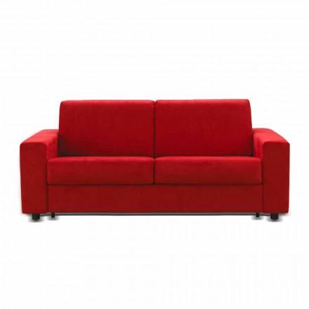 Zweisitzer-Sofa modernes Design aus Kunstleder/Stoff made Italy Mora