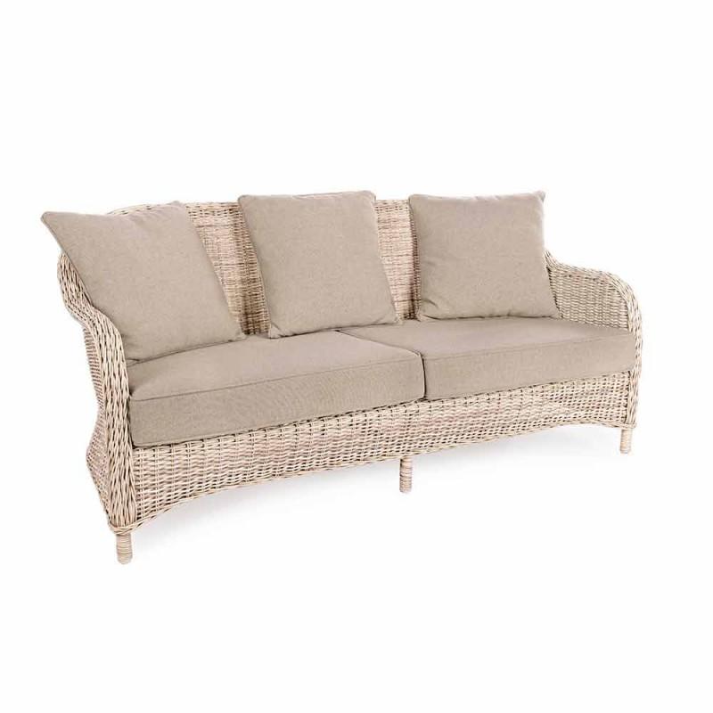 3-Sitzer-Gartensofa in geflochtenem Faserdesign Homemotion - Casimiro