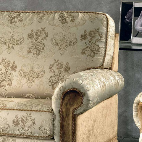 3-Sitzer-Sofa in Stoff teilweise abnehmbar Maxim, made in Italy