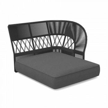 Outdoor Chaise Longue Sofa aus Seil und Stoff - Cliff Decò von Talenti