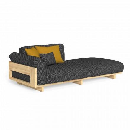Chaiselongue im Freien, gepolstert mit hochwertigem Holz - Argo von Talenti