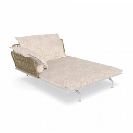Garden Chaise Longue Sofa aus Aluminium und Stoff - Cruise Alu von Talenti