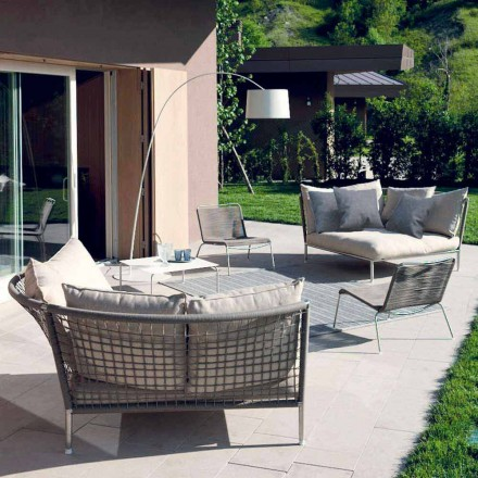 Runder Garten Sofa Stoff Made in Italy Design - Ontario4