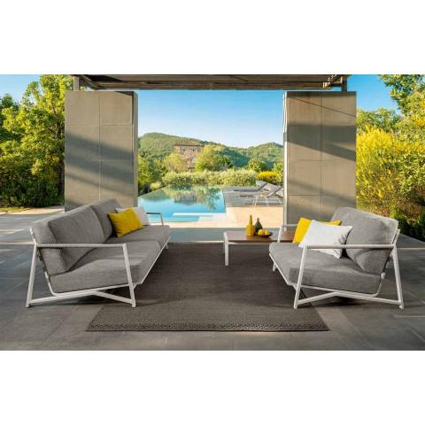 2-Sitzer-Sofa im Freien aus Aluminium und Stoff - Cottage Luxury von Talenti