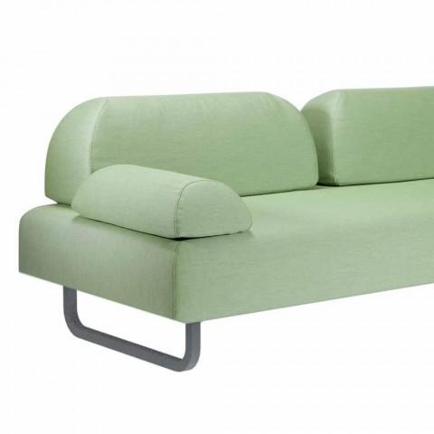 3-Sitzer-Design-Sofa aus Metall und Stoff Made in Italy - Selia