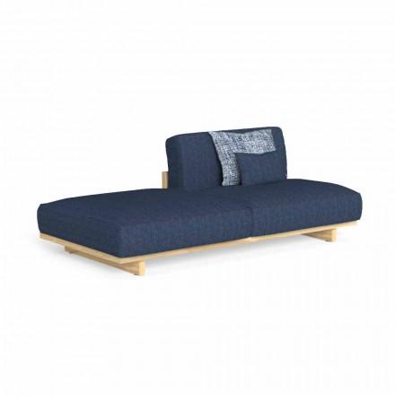 Modulares Outdoor-Sofa mit linkem oder rechtem Hocker - Argo von Talenti