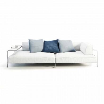 Outdoor-Sofa gepolstert in modernem Design Stoff Made in Italy - Arkansas