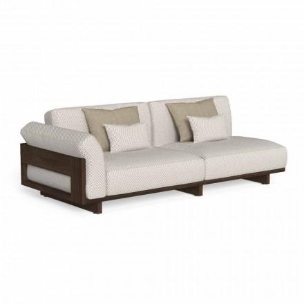 Modulares Outdoor-Sofa, Design aus Edelholz Accoya - Argo von Talenti