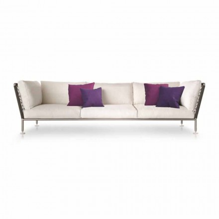 Outdoor-Sofa mit modernem Design aus Stoff Made in Italy - Ontario