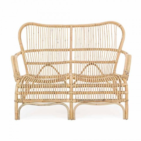2-Sitzer Luxus-Outdoor-Sofa aus Kunstfaser für den Garten - Melizia