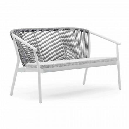 Zweisitzer Garden Stacking Sofa Aluminium und Stoff - Smart By Varaschin