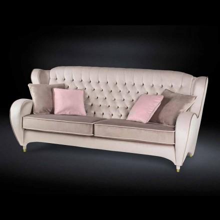Sofa aus Samt mit Capitonnè Dekor New Classic Schinke