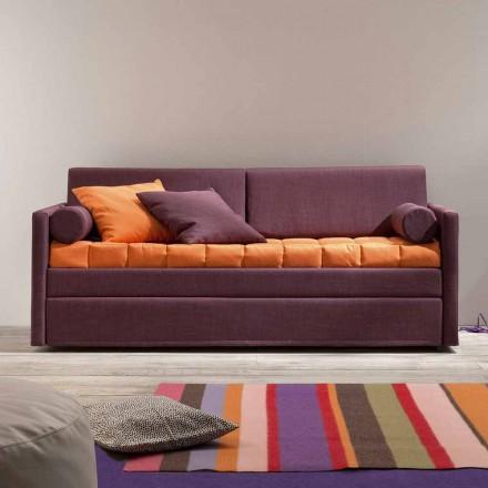 Design Etagenbett Sofa bezogen in Made in Italy Stoff - Gretel