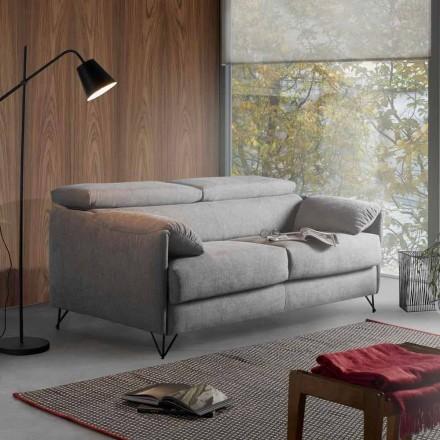 Design Schlafsofa aus abnehmbaren Stoff made in Italy Vittorio