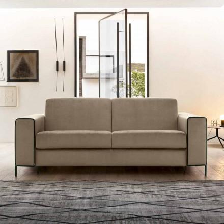Modernes Stoffsofa mit Metallfüßen Made in Italy - Tulipano