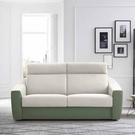 Modernes Schlafsofa gepolstert in Made in Italy Bicolor Fabric - Begonia
