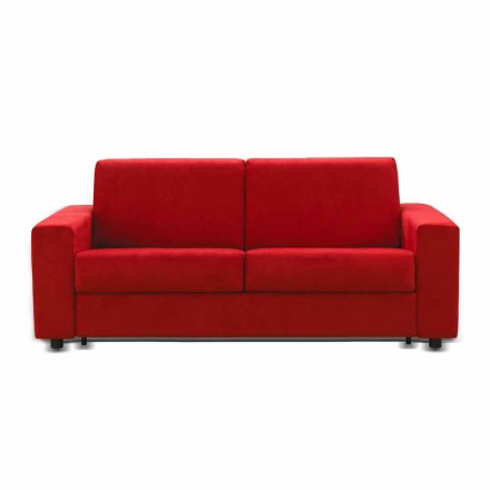 Dreisitzer-Sofa modernes Design aus Kunstleder/Stoff made Italy Mora