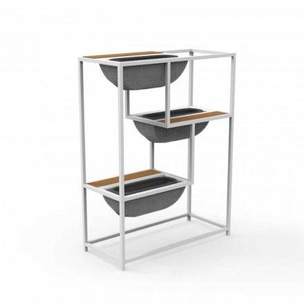Moderner rechteckiger Pflanzer aus Luxus-Design-Aluminium - Jackie von Talenti