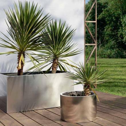 Gartenpflanzgefäß mit rundem oder rechteckigem Design aus Stahl Made in Italy - Philly