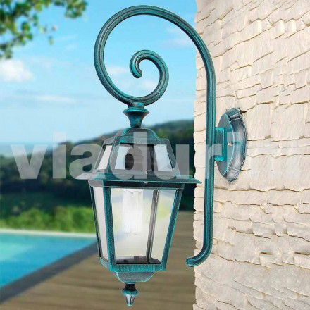 Gartenwandlampe Mnade mit Aluminium, hergestellt in Italien, Kristel