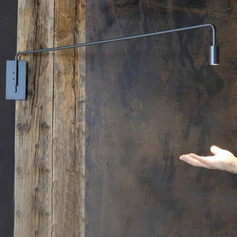 Außenwandleuchte aus Eisen mit einstellbarer LED Made in Italy - Forla