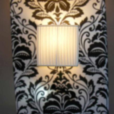 Moderne Wandlampe in Bambus Seide, Elfenbeinfarbe
