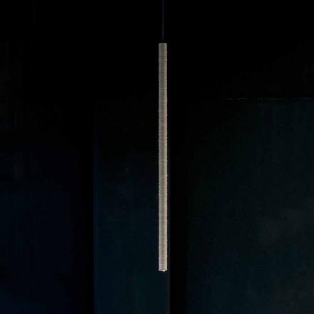 Hängelampe aus Aluminium mit Seilüberzug Made in Italy - Ginia