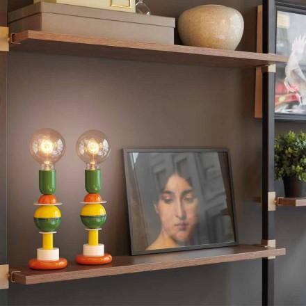 Design mehrfarbige Tischlampe aus Aluminium Slide Otello Mini